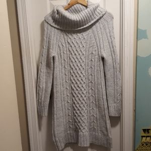 BR rustic Knit dress or very long sweater sz.M